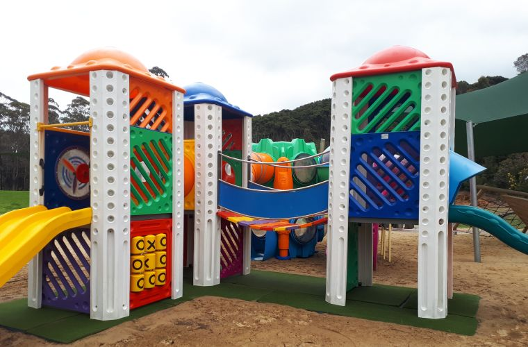 A clean and colourful playground